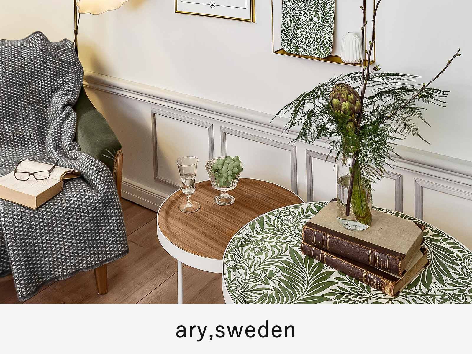 オーリスウェーデンの木製トレイ