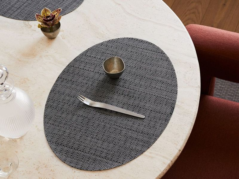 チルウィッチランチョンマットの楕円形サッチ柄