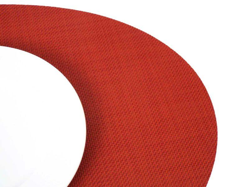 ミニバスケットウィーブ・楕円形のピメント色