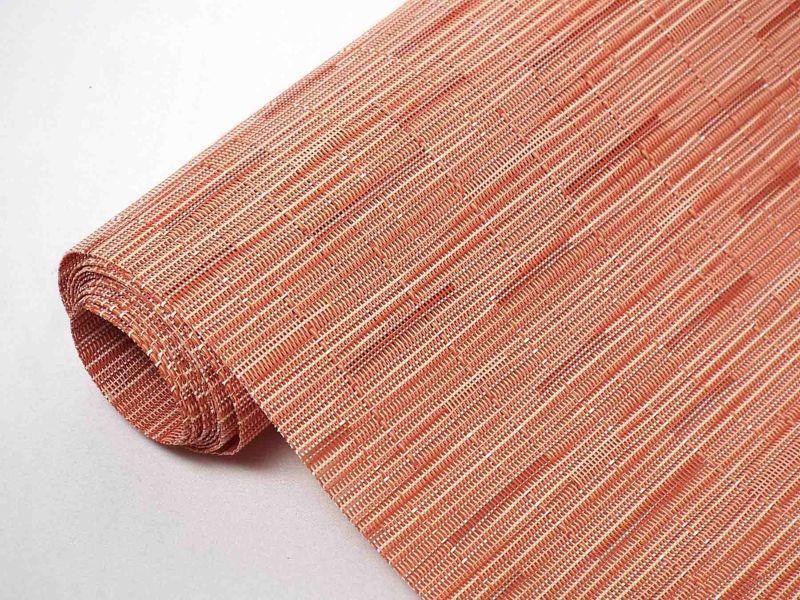 チルウィッチテーブルランナーのバンブー柄サンセット色
